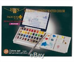 Holbein Artist's Water Color 36 Colors Set PALM BOX PN698 Japan import F/S