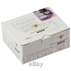 Holbein Artists' Pan 48 Water Color Set Cube Box with Brush Palette PN699 Track