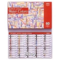 Holbein Artists Transparent Watercolor W411 60 Colors Set 5ml Tubes HWC60 Japan
