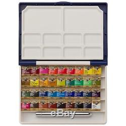 Holbein PN 698 Artists Water Color 36 Colors Set PALM BOX Half Pan FREE Ship