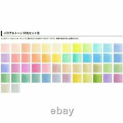 Holbein Pastel Tone 50 Colors Colored Pencil Set in a Paper-box OP936 from Japan