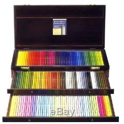 Holbein colored pencil 150 color set wooden boxF/SFromJapanEMS