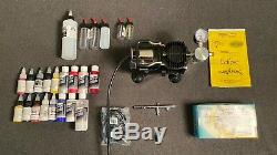 Iwata Eclipse Hp-BCS Airbrush Set with Sprint Jet Compressor Great Condition
