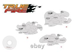 Iwata Mike Lavallee True Fire set of 9 includes DVD Template Airbrush Stencil Tr