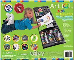 Kids Art Set Easel Children Craft Kit Drawing Supplies Painting Pencil Box Color