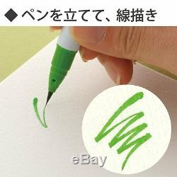 Kuretake ZIG Clean Color Real Brush 6 90 With A Balck Brush Pen As a gift