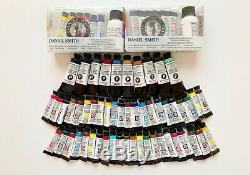 LOT OF 72 Daniel Smith Extra Fine Watercolor Paint & Essential Mixing Set NEW