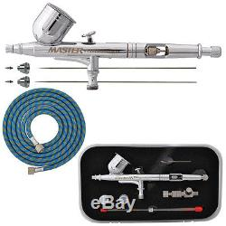 MASTER PRO Dual-Action Gravity Feed AIRBRUSH KIT SET with 3 TIPS Hobby Paint Craft