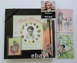 Mab Graves LE Ransom Plate withBox, Pink Trekell Brush Set and Prints big eye art