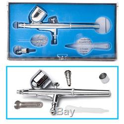 Mini 3 Airbrush & Compressor Kit Dual-Action Spray Air Brush Set Tattoo Nail Art