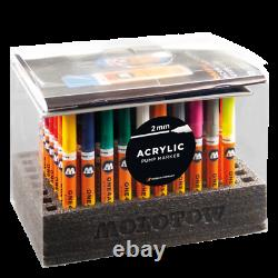 Molotow One4All 127HS Display Set Complete 70 Acrylic Paint Markers, 2mm NEW