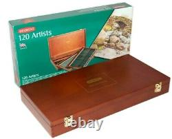 NEW 120 Colours Derwent Artist Colouring Pencils in WOODEN BOX Set Art Drawing