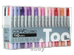 NEW COPIC CIAO 72 Colors Set A (72A) Premium Artist Markers Anime Comic JAPAN