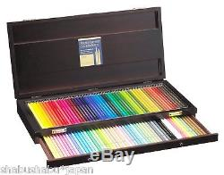 NEW Holbein Artist Colored pencil 100 colors set with Wooden box Free Shipping