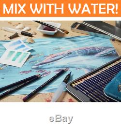 NEW IN TIN 72x Derwent INKTENSE Colouring Pencils Full Range Set Mix with Water