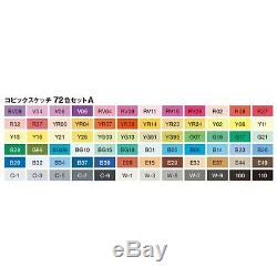 NEW Offical Copic Sketch 72 Colors Marker A Set for Manga Anime