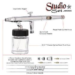 New 8 PRO, Dual-Action AIRBRUSHES-Airbrush Set-Kit-Paint
