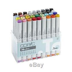 New Copic Classic Markers 36-Piece Basic Set Ships Free