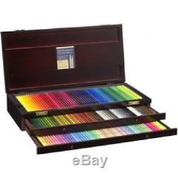 New Holbein Artist Colored Pencil 150 Colors Set Wooden Box OP946 Free Shipping