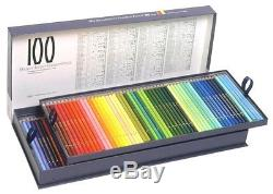 New! Holbein Artists' colored pencil 100 color set Kamihako Japan F/S