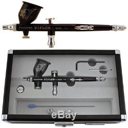 New Paasche Talon TGX2F Dual Double Action Gravity Feed Airbrush Set