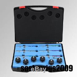 OPHIR New 6 PCS of Different Colour Dual Action Airbrush Set Kit with Nozzle