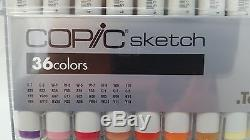 Official TOO Copic Sketch Marker Pen 36 color Set Anime Manga Artist NEW F/S