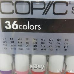 Official Too Copic Sketch 36 Colors Marker Set for Manga Anime