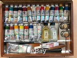Old Holland Master's Deluxe Oil Paint Colour Box Set w. Knife Palette Mediums