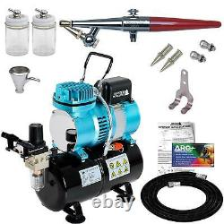 PAASCHE H-SET AIRBRUSH withQuiet AIR COMPRESSOR with TANK