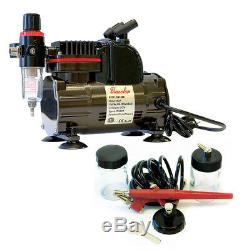 Paasche 1/5 HP Airbrush Compressor with EZ Single Action Airbrush Set
