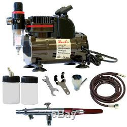 Paasche 1/5 HP Airbrush Compressor with MIL Double Action Siphon Feed Airbrush Set