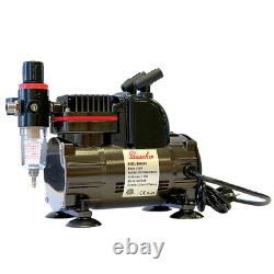 Paasche 1/5 HP Airbrush Compressor with TS Double Action Siphon Feed Airbrush Set