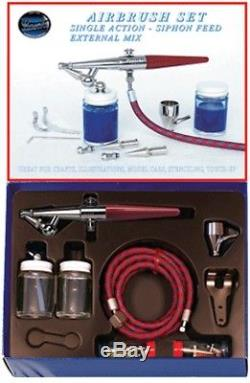 Paasche H Airbrush Set including all heads, hose and bottles P-H-SET