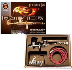 Paasche Raptor RG-3S Dual Double Action Internal Mix Gravity Feed Airbrush Set