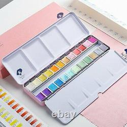 Paul Rubens solid watercolors pearl 24-color set Arabic rubber with metal case