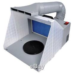 Portable Airbrush Spray Booth Extractor Airbrushing Set Hose Art Craft Model Toy