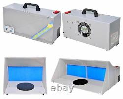 Portable Hobby Airbrush Paint Spray Booth Kit Exhaust Filter Extractor Set Model