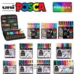 Posca Paint Marker Kits Cases, Sets, Packs, all options. New Pastel Packs