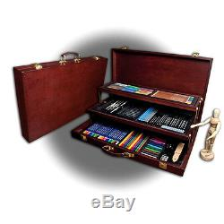 Premier Sketching and Drawing Deluxe Set Wooden Case Gift Professional Artist