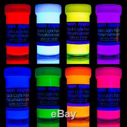 Premium Glow in The Dark Paint Set by neon nights Professional Grade Neon in