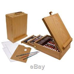 Professional Drawing Set Kit Art Sketch Paint Craft Artist Easel Supplies Pencil