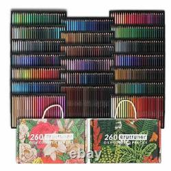 Professional Oily Colored Pencils Set 260/520 Oil Colors Drawing Sketching Art