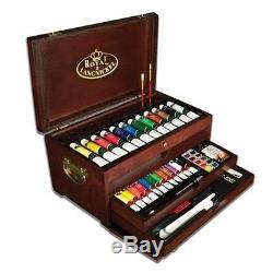 Royal & Langnickel Premier Painting Chest Deluxe Art Set Wood, 80-Piece New Best
