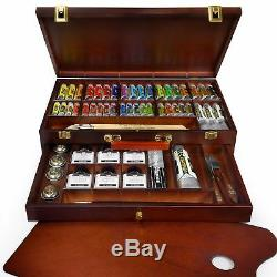 Royal Talens Rembrandt'Excellent' Edition Oil Paint Art Set in Wooden Chest