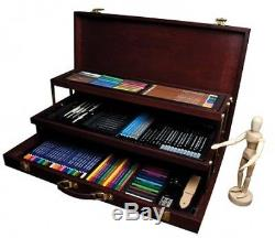 Royal and Langnickel Premier Sketching And Drawing Deluxe Art Set, 134-Piece
