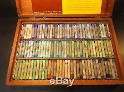 Sargent Rare Artists Soft Pastel Set 204 Piece In A Wooden Box With 2 Layers