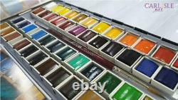 Sennelier French Watercolour Metal Set Of 48 Half Pans Extra Fine