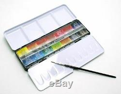 Sennelier L'Aquarelle Artists Watercolour 14 Full / Whole Pan Metal Box Set