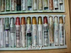 Sennelier Oil Pastels Wooden Box Set of 100 (Used)